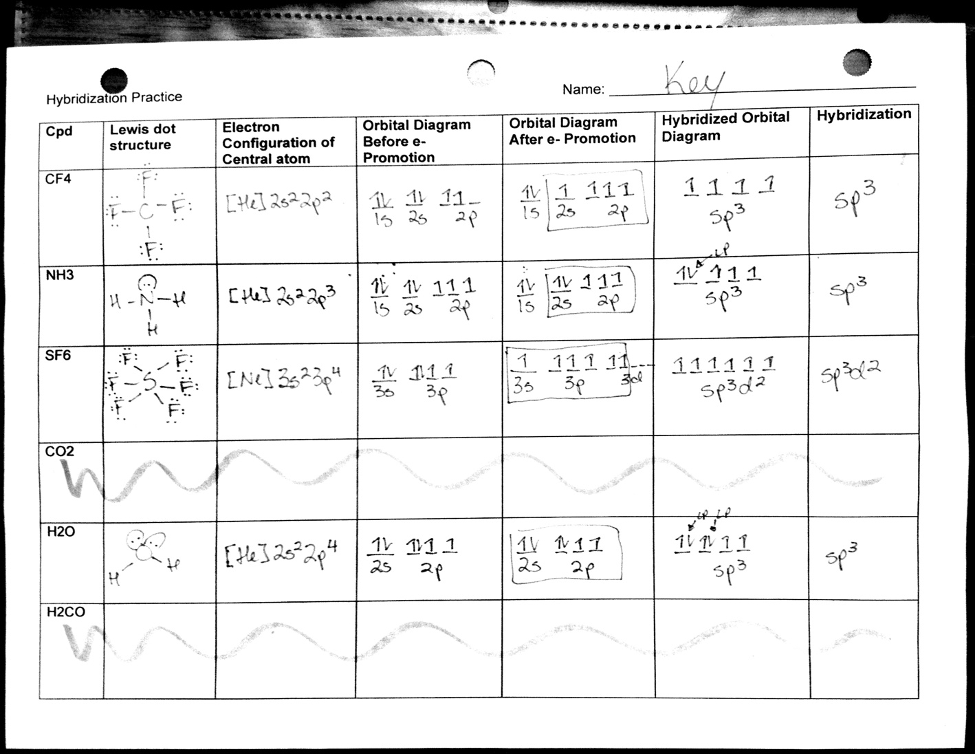 worksheet Vsepr Worksheet With Answers bonding chemical nomenclature and vsepr gt mr klotzs web page hybridization answers 2 videos